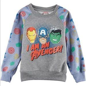 Boys Avengers pullover sweatshirt size 7